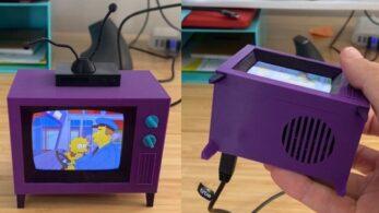 Изобретатель создал крошечный телевизор Simpsons TV