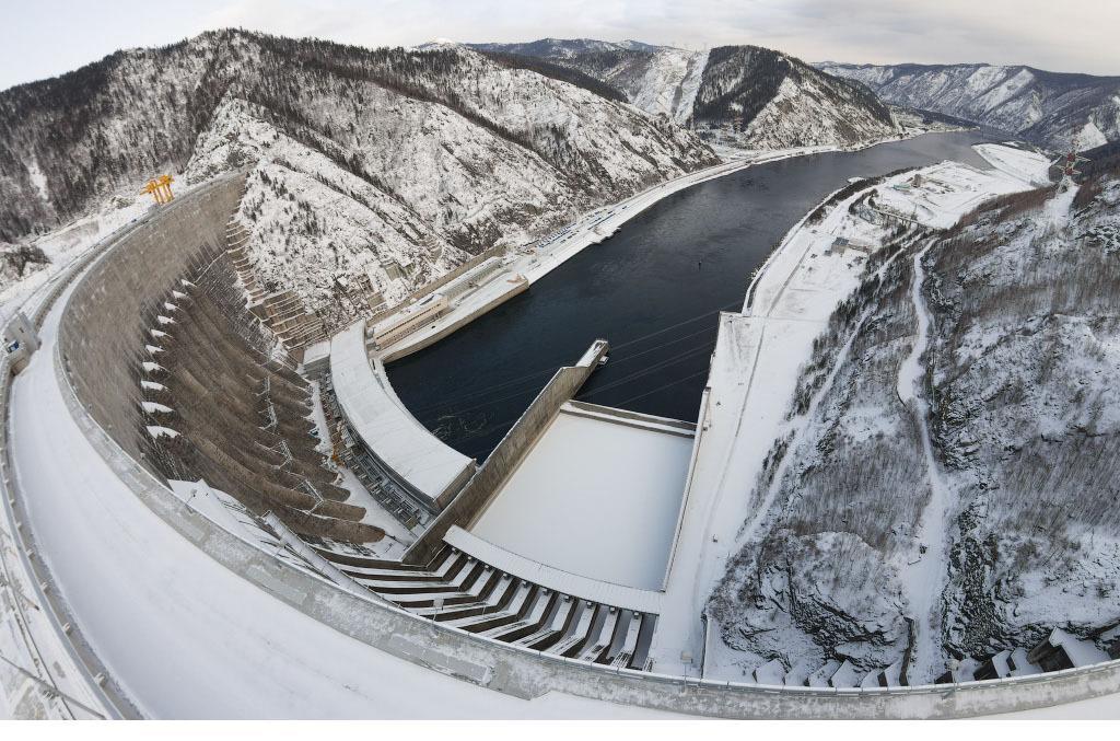 Плотина СШГЭС - водоводы