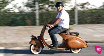 Скутер из дерева (34 фото)