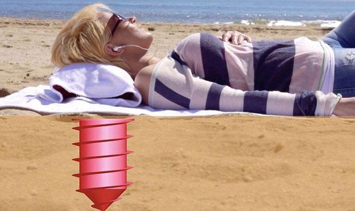 Очень полезный буравчик для пляжного отдыха