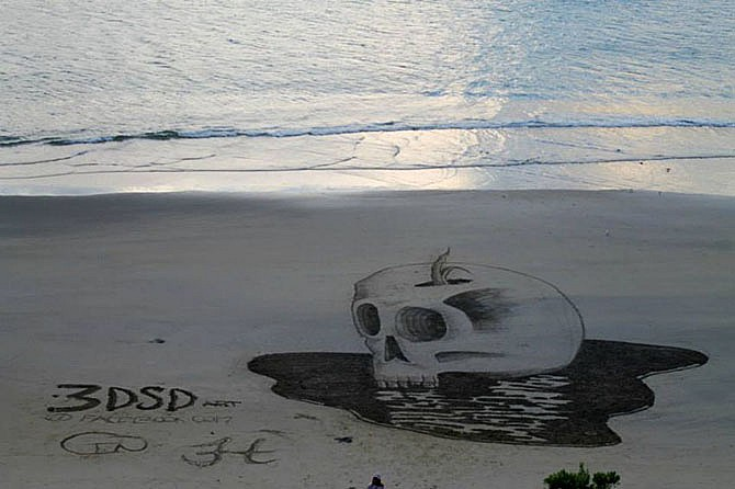 3D-рисунки на песке