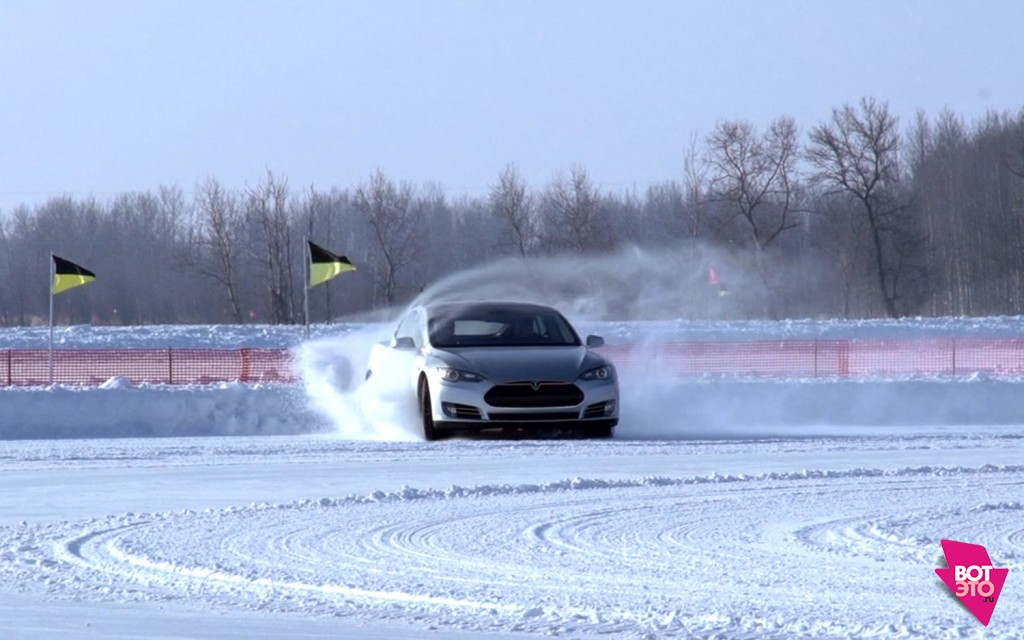 Tesla-S зимой