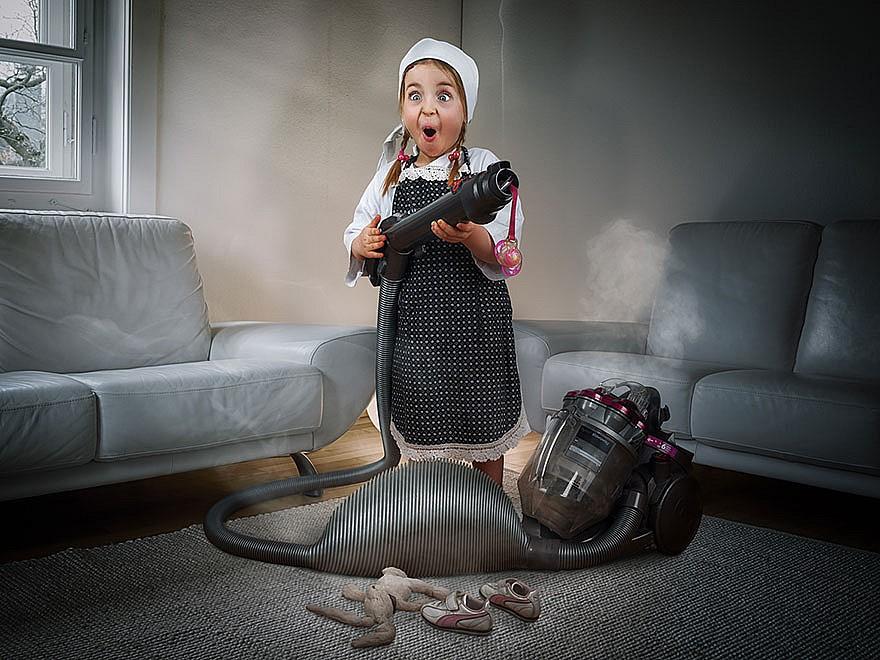 Когда папа - фотохудожник, детский альбом получается потрясным