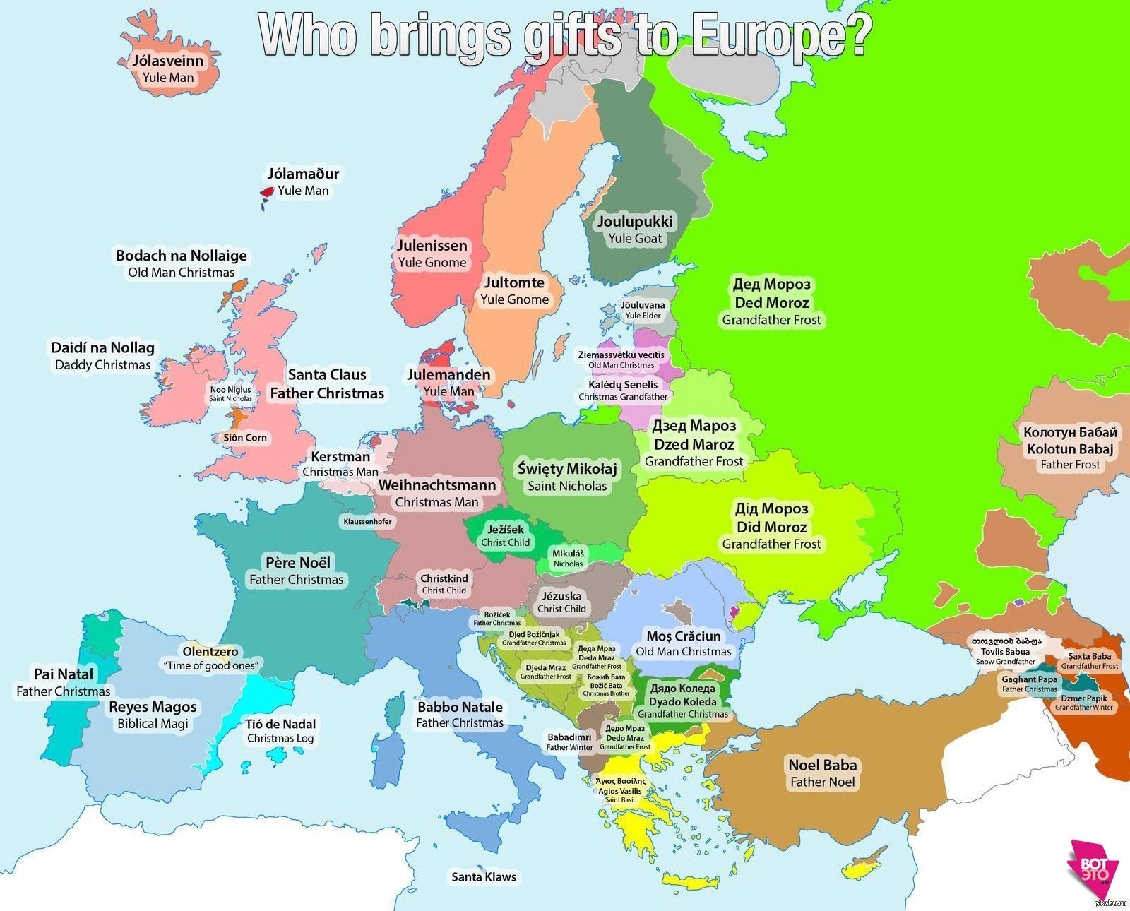 Карта Деда Мороза